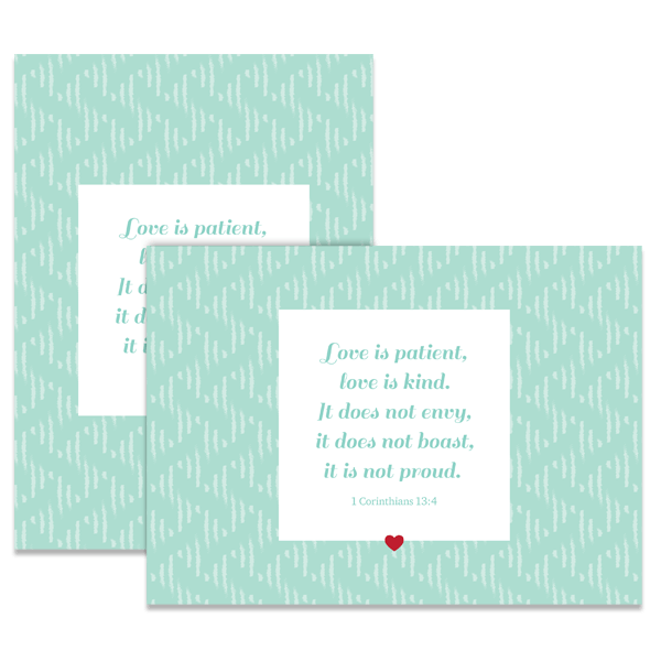 Love Is Patient Card