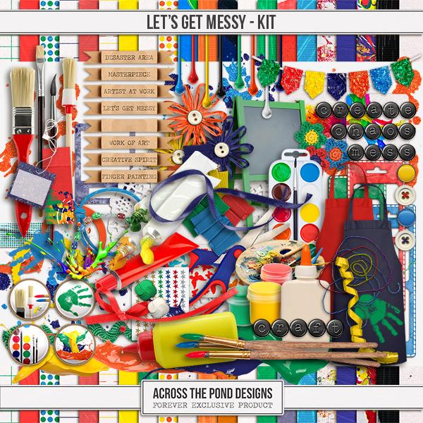 Let's Get Messy - Page Kit Digital Art - Digital Scrapbooking Kits