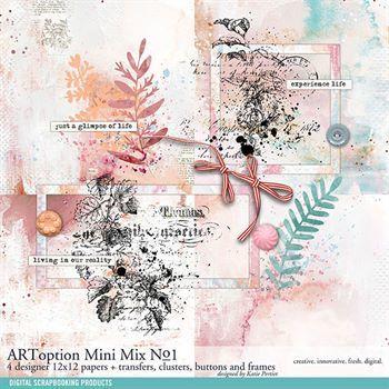 Artoption Mini Mix No. 01 Digital Art - Digital Scrapbooking Kits