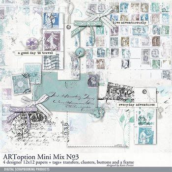 Artoption Mini Mix No. 03 Digital Art - Digital Scrapbooking Kits