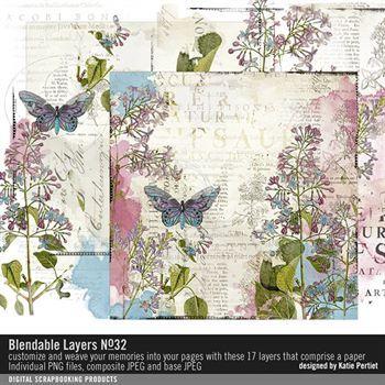 Blendable Layers No. 32 Digital Art - Digital Scrapbooking Kits