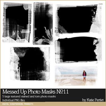 Messed Up Photo Blocks Brushes And Stamps No. 11 Digital Art - Digital Scrapbooking Kits