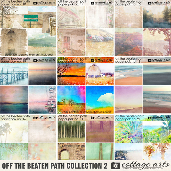 Off the Beaten Path Collection 2 Digital Art - Digital Scrapbooking Kits