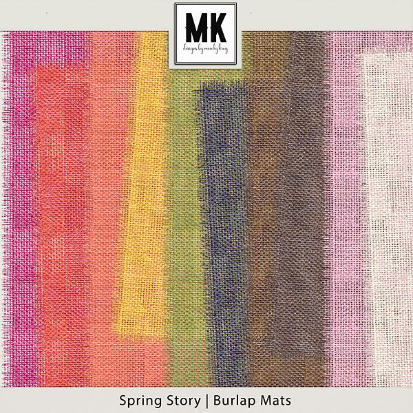 Spring Story - Burlap Mattes