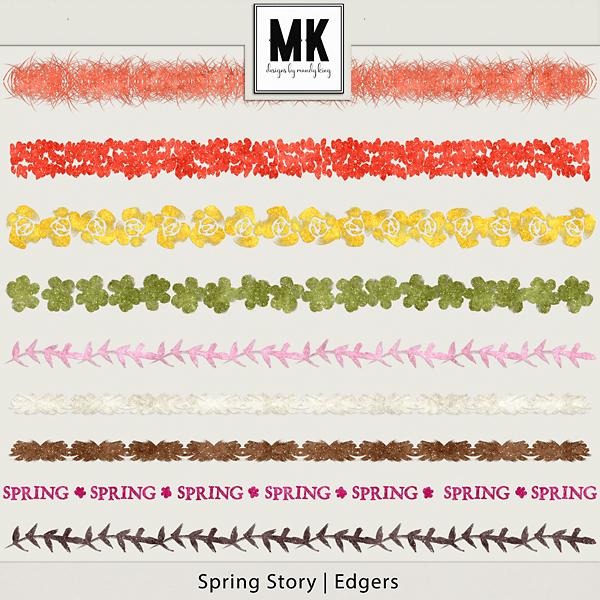 Spring Story - Edgers Digital Art - Digital Scrapbooking Kits