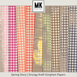 Spring Story - Grungy Kraft Gingham Papers