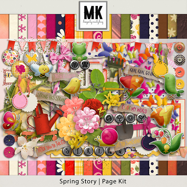 Spring Story - Page Kit