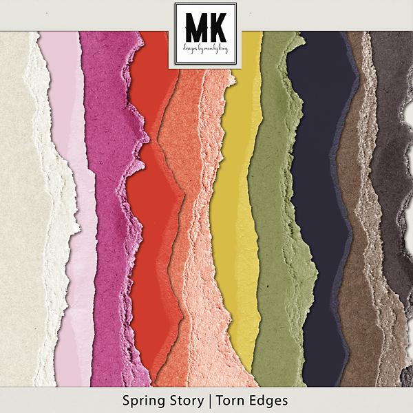 Spring Story - Torn Edges Digital Art - Digital Scrapbooking Kits