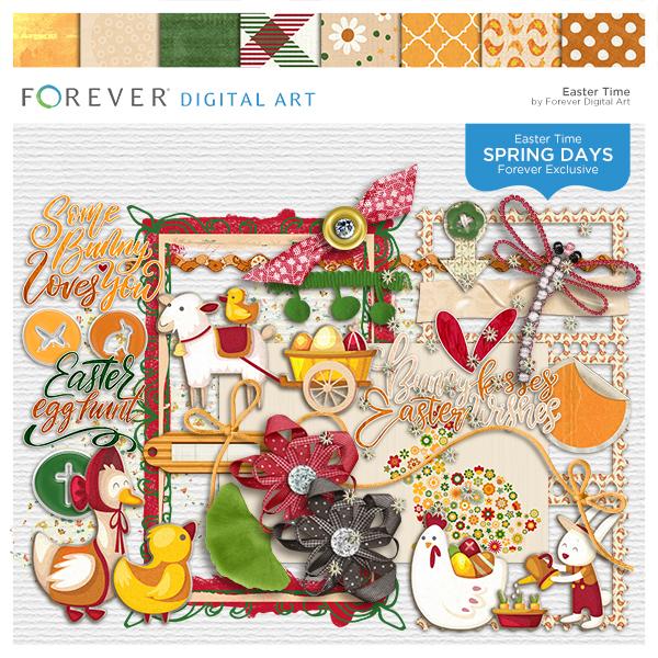 Spring Days - Easter Digital Art - Digital Scrapbooking Kits