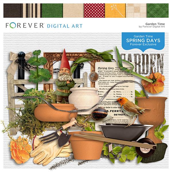 Spring Days - Garden Time Digital Art - Digital Scrapbooking Kits