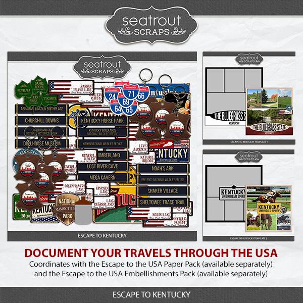 Escape To Kentucky Digital Art - Digital Scrapbooking Kits