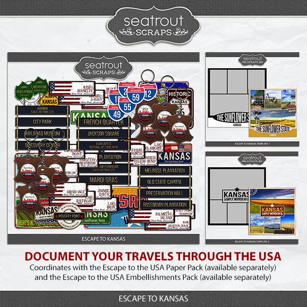 Escape To Kansas Digital Art - Digital Scrapbooking Kits