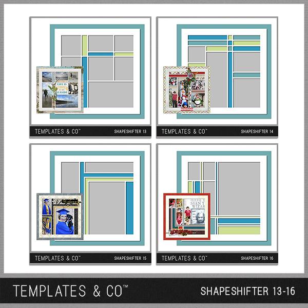 Shapeshifter 13-16 Digital Art - Digital Scrapbooking Kits