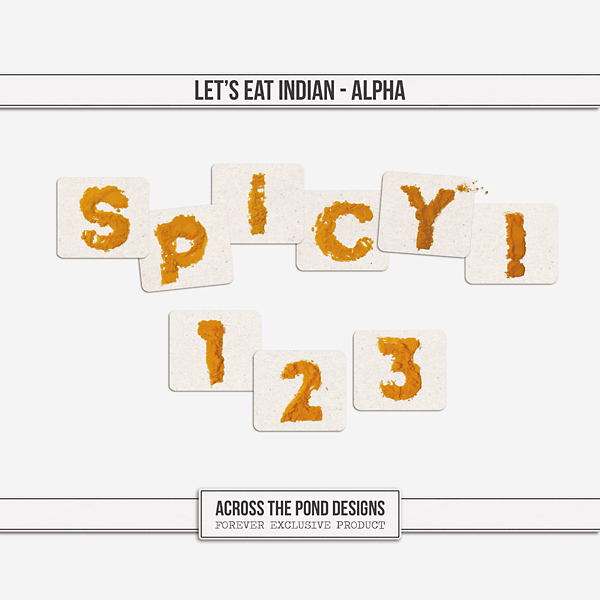 Let's Eat Indian - Alpha Digital Art - Digital Scrapbooking Kits