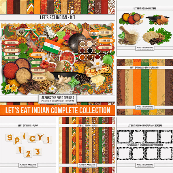 Let's Eat Indian - Bundle Digital Art - Digital Scrapbooking Kits