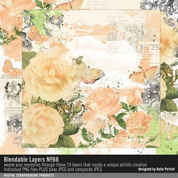 Blendable Layers No. 68 Digital Art - Digital Scrapbooking Kits