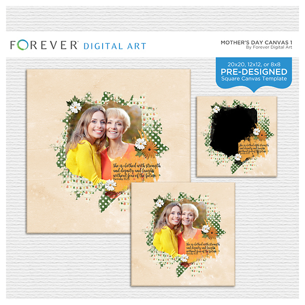 Mother's Day Canvas 1 Digital Art - Digital Scrapbooking Kits