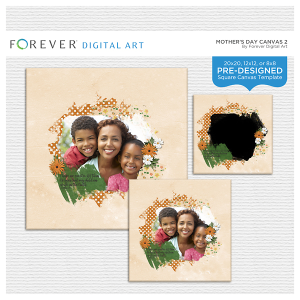 Mother's Day Canvas 2 Digital Art - Digital Scrapbooking Kits