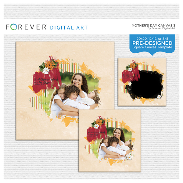 Mother's Day Canvas 3 Digital Art - Digital Scrapbooking Kits
