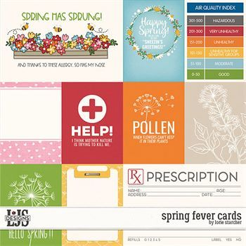 Spring Fever Cards Digital Art - Digital Scrapbooking Kits