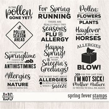 Spring Fever Stamps Digital Art - Digital Scrapbooking Kits