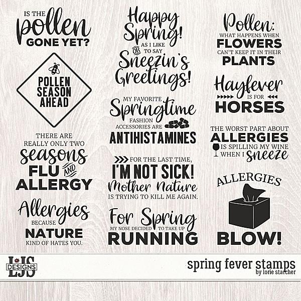 Spring Fever Stamps Digital Art - Digital Scrapbooking Kits
