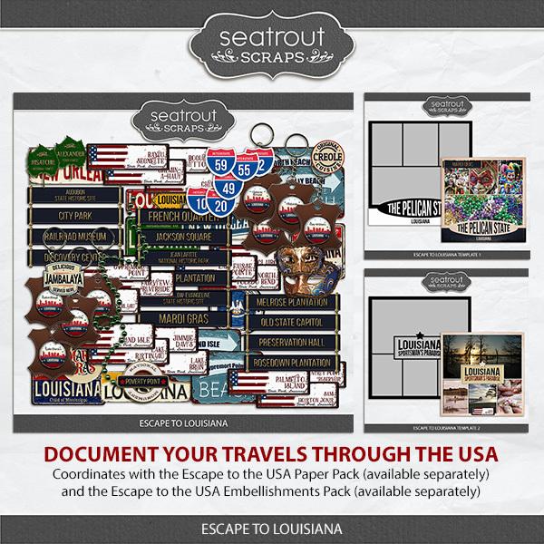 Escape To Louisiana Digital Art - Digital Scrapbooking Kits