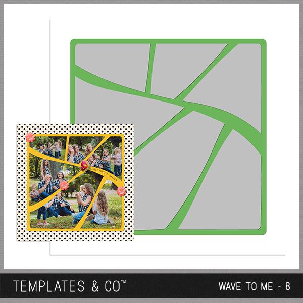 Wave To Me - 8 Digital Art - Digital Scrapbooking Kits