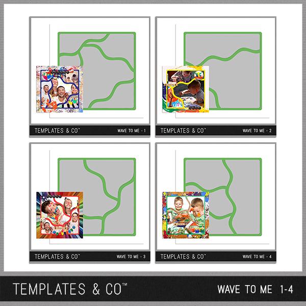 Wave To Me 1-4 Digital Art - Digital Scrapbooking Kits