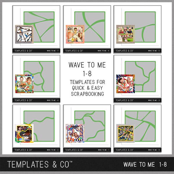 Wave To Me 1-8 Digital Art - Digital Scrapbooking Kits