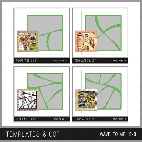 Wave To Me 5-8 Digital Art - Digital Scrapbooking Kits
