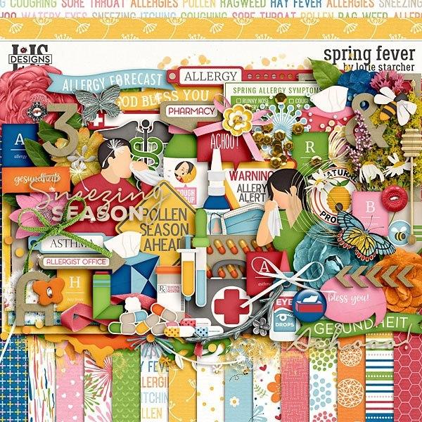 Spring Fever Digital Art - Digital Scrapbooking Kits