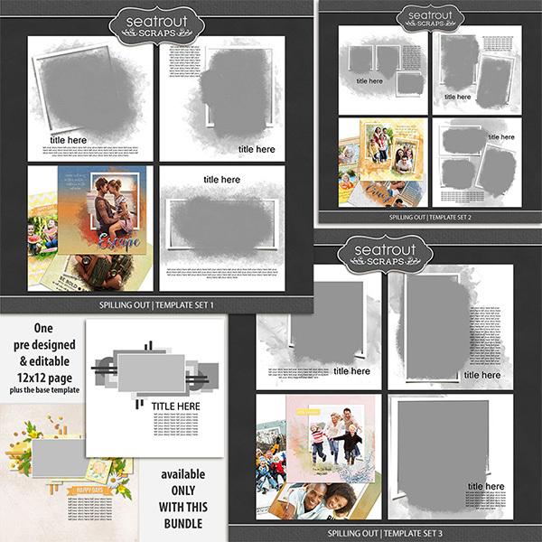 Spilling Out Bonus Bundle Digital Art - Digital Scrapbooking Kits