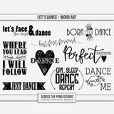 Let's Dance Word Art
