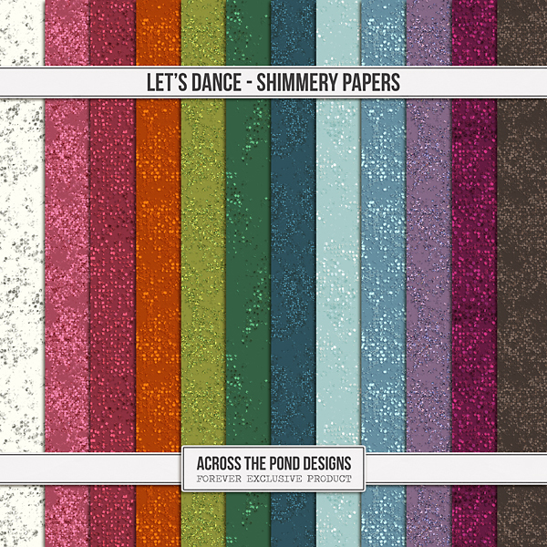 Let's Dance Shimmery Papers