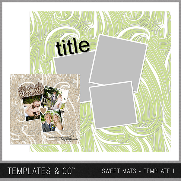 Sweet Mats - Template 1 Digital Art - Digital Scrapbooking Kits