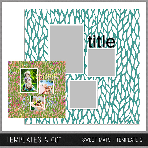 Sweet Mats - Template 2 Digital Art - Digital Scrapbooking Kits