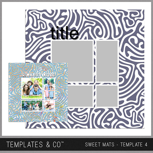 Sweet Mats - Template 4 Digital Art - Digital Scrapbooking Kits
