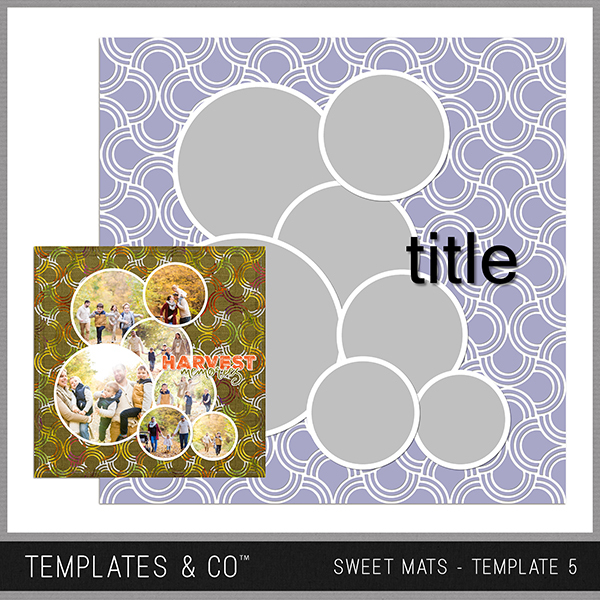 Sweet Mats - Template 5 Digital Art - Digital Scrapbooking Kits
