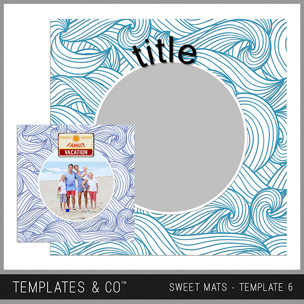 Sweet Mats - Template 6 Digital Art - Digital Scrapbooking Kits