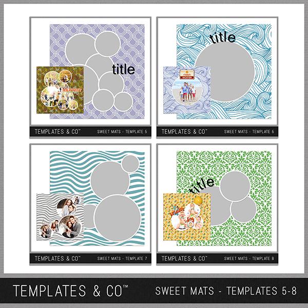 Sweet Mats - Templates 5-8 Digital Art - Digital Scrapbooking Kits