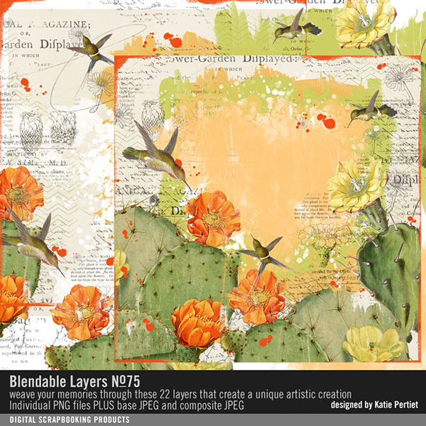 Blendable Layers No. 75 Digital Art - Digital Scrapbooking Kits