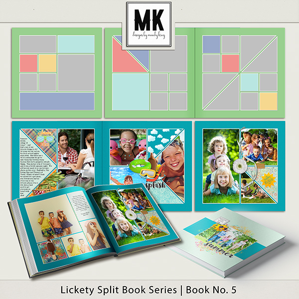 Lickety Split Book Series Number 5 Digital Art - Digital Scrapbooking Kits