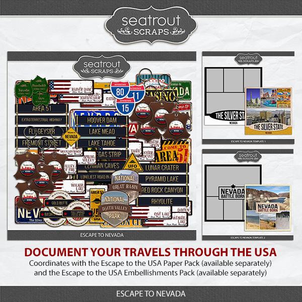 Escape to Nevada Digital Art - Digital Scrapbooking Kits