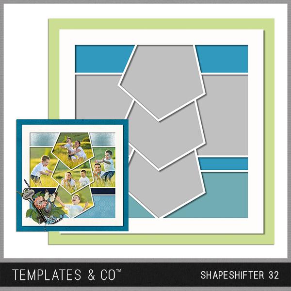 Shapeshifter 32 Digital Art - Digital Scrapbooking Kits