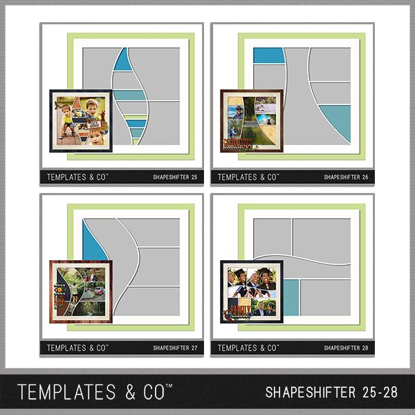 Shapeshifter 25-28 Digital Art - Digital Scrapbooking Kits