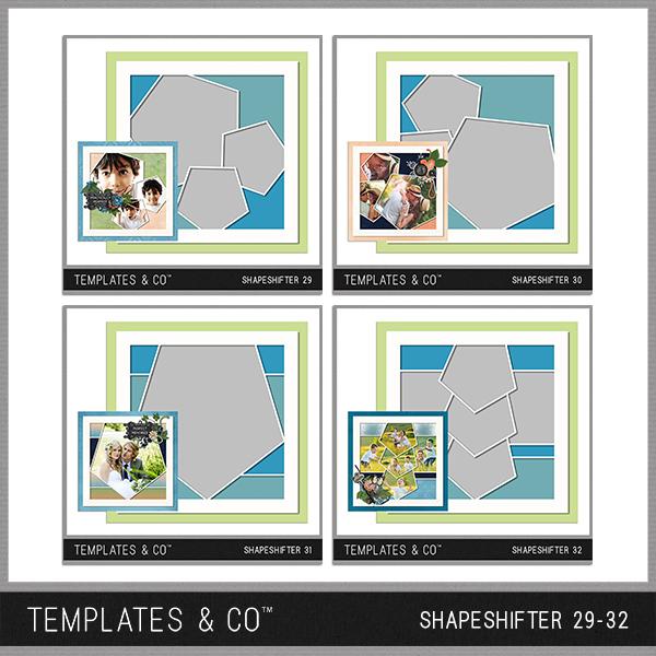 Shapeshifter 29-32 Digital Art - Digital Scrapbooking Kits