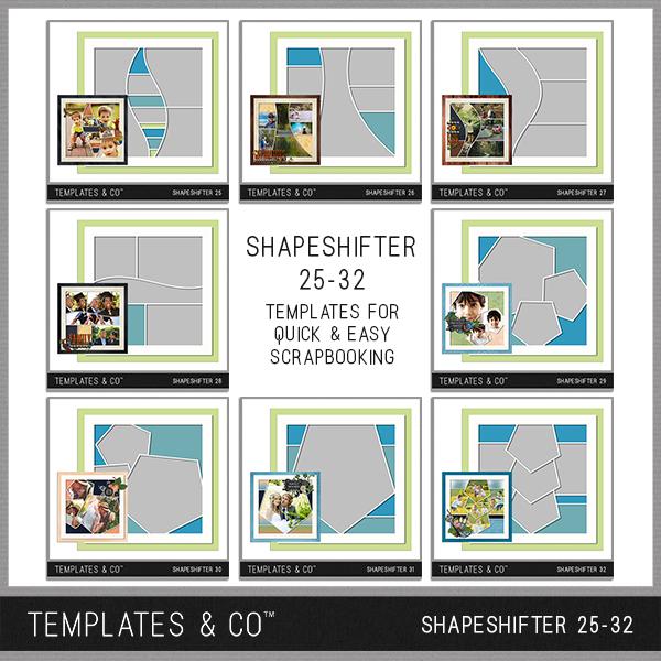 Shapeshifter 25-32 Digital Art - Digital Scrapbooking Kits
