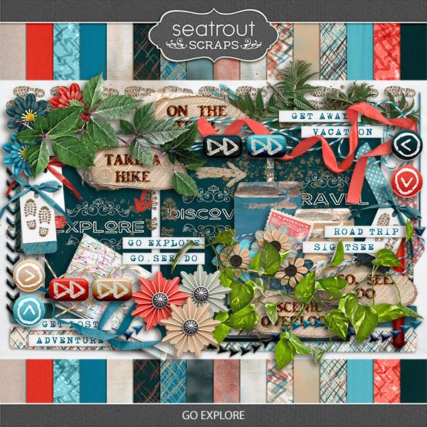 Go Explore Digital Art - Digital Scrapbooking Kits