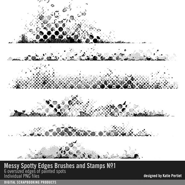 Messy Spotty Edgers Brushes and Stamps No. 01